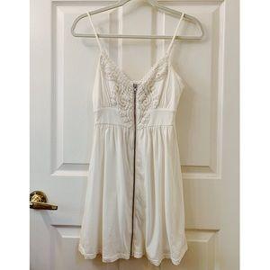 Off-White Zippered Mini Dress